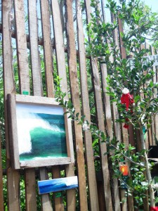 Surf art in the courtyard