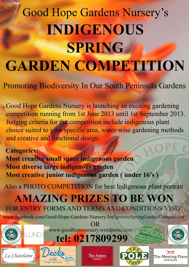 Good Hope Gardens Nursery's INDIGENOUS SPRING GARDEN COMPETITION!