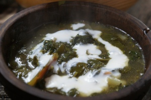 Nettle and spinach soup