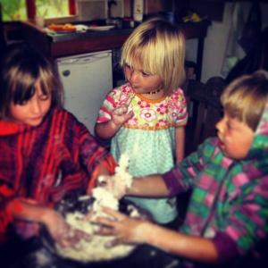 Tasting the scone dough