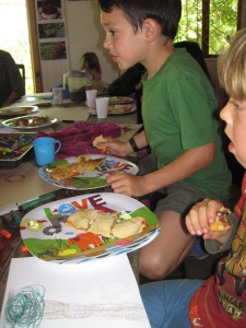 Kids forage and harvest course
