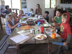 Kids forage and harvest morning