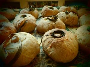 Wild garlic rolls