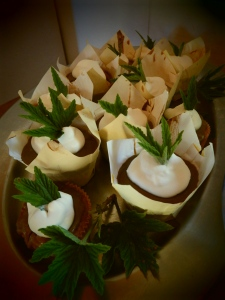 Honeybush and lemon Pelargonium cupcakes