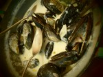 Creamy white wine mussels - Coastal Foraging course in Cape Town